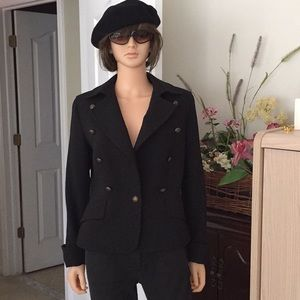 NWOT...Talbots black wool jacket